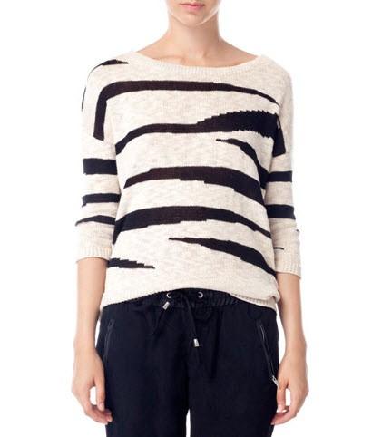 Sweter w zebrę, Stradivarius, cena: 119 zł