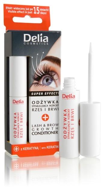Odżywka stymulująca wzrost rzęs i brwi, Delia Cosmetics, cena: ok. 17,57 zł/ 10 ml