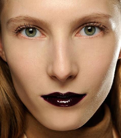 Makijaż ust - trendy jesień-zima 2013/2014, Veronique Branquinho