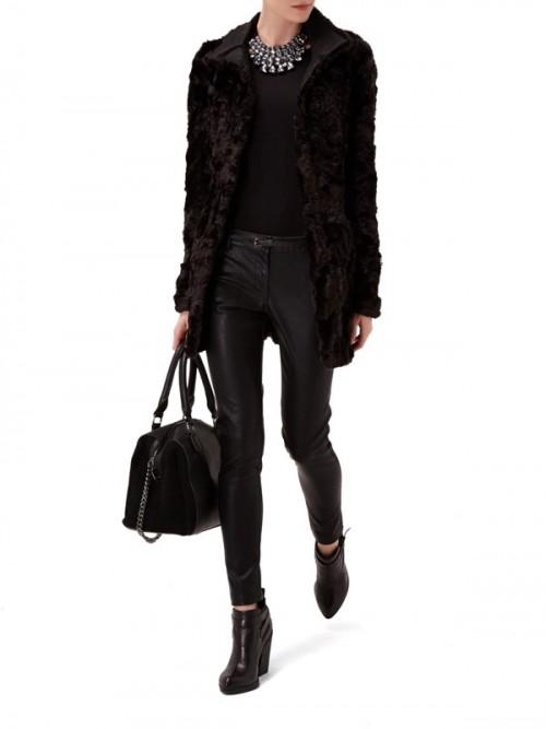 Czarny płaszczyk-futerko Reserved, 399.99 zł