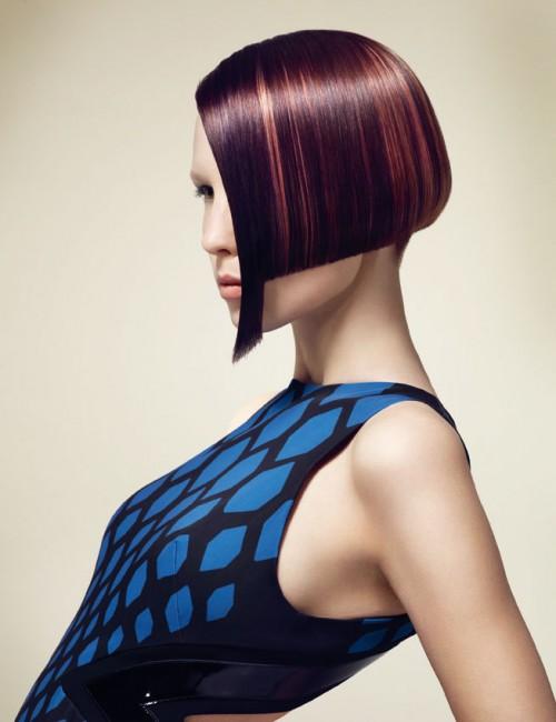 Nowoczesne geometryczne fryzury z kolekcji Essential Looks 2.2013 Schwarzkopf Professional – COLOUR BURST