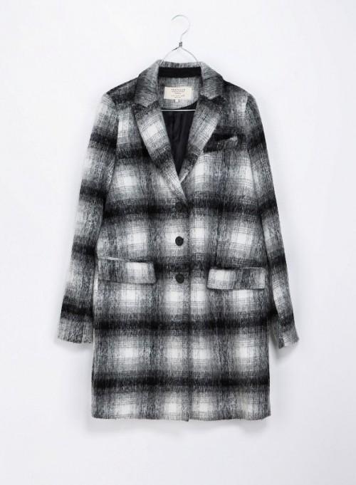 Płaszcz w kratę Zara TRF, 369 zł