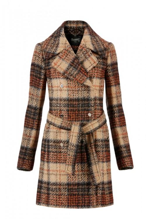 Płaszcz w kratę C&A, 499 zł