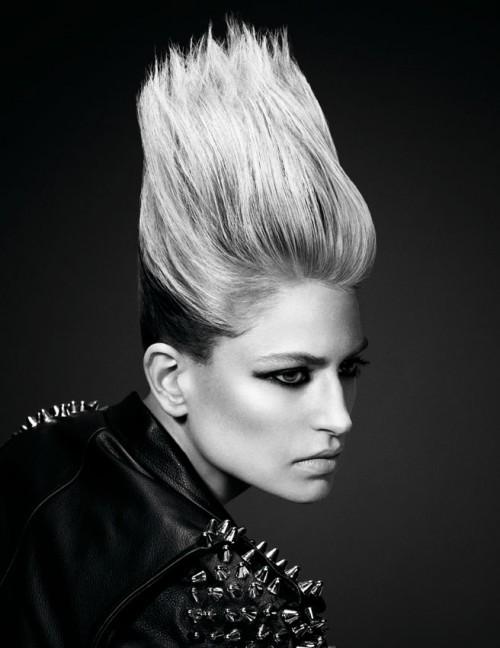 Punkowe fryzury z kolekcji Essential Looks 2.2013 Schwarzkopf Professional – COLOUR BURST