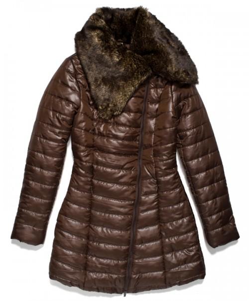 Puchowy płaszcz w brązowym odcieniu Carry, 184.99 zł