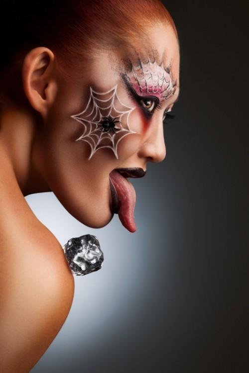 makijaż, halloween