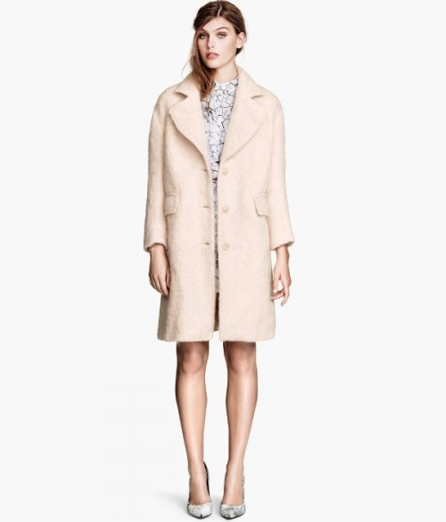Różowy płaszcz H&M, 499 zł
