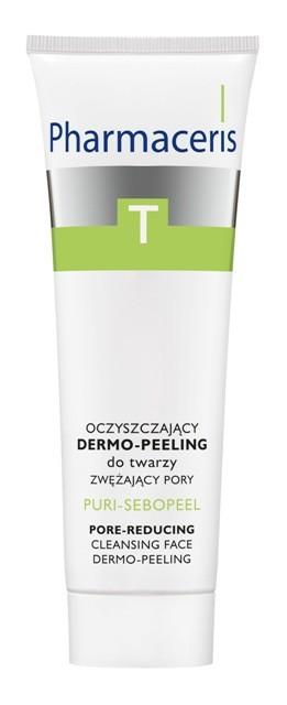 Oczyszczający dermo-peeling do twarzy zwężający pory, Pharmaceris T, cena: 24,90 zł/ 50 ml