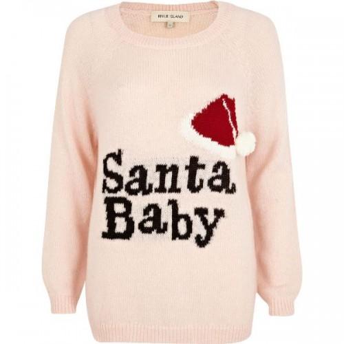 "Sweter ""Santa Baby"" River Island"