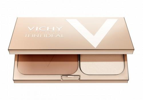 """PUDER rozświetlający Vichy dla każdego rodzaju skóry wygładza i koryguje wygląd skóry, bez """"rolowania się"""" pudru na skórze, łatwo się nakłada, pozostawia promienne, satynowe, wykończenie. Cena: 105 zł/ 9,5g"""