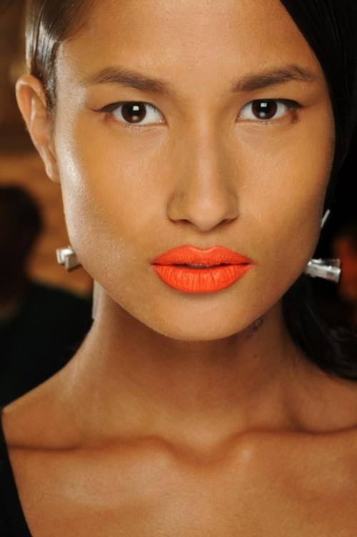 Makijaże z tygodnia mody w Nowym Yorku - wiosna-lato 2014 - trendy - Prabal Gurung