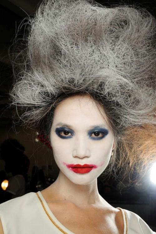 Makijaże z tygodnia mody w Nowym Yorku - wiosna-lato 2014 - trendy - Thom Browne