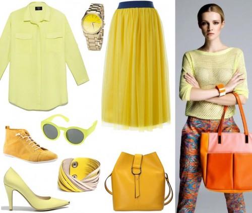 trendy 2014, kolor żółty, lookbook Solar wiosna-lato 2014