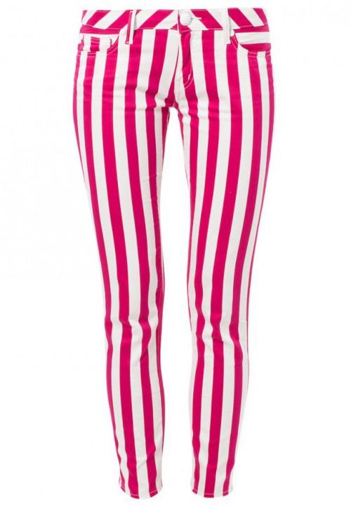 Spodnie w różowe paski, Love Moschino, cena: 89, 90 zł