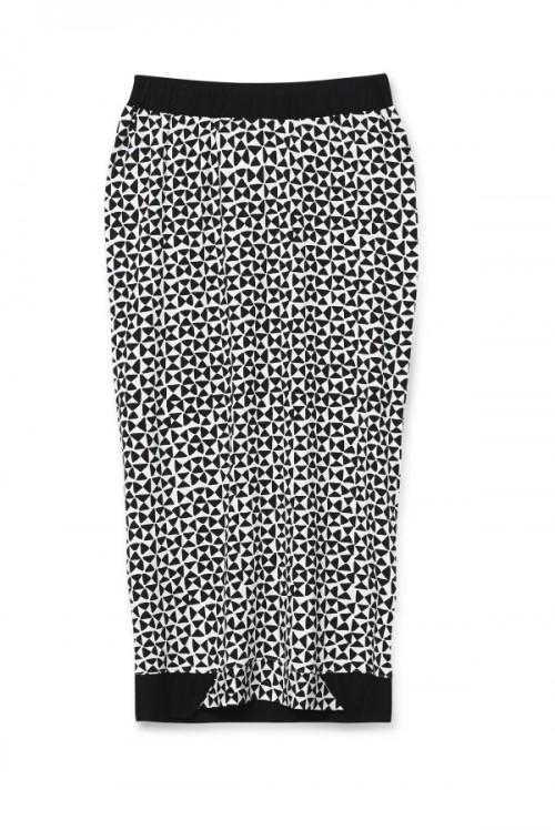Czarno-biała spódnica midi, Est by Es, cena: 240 zł