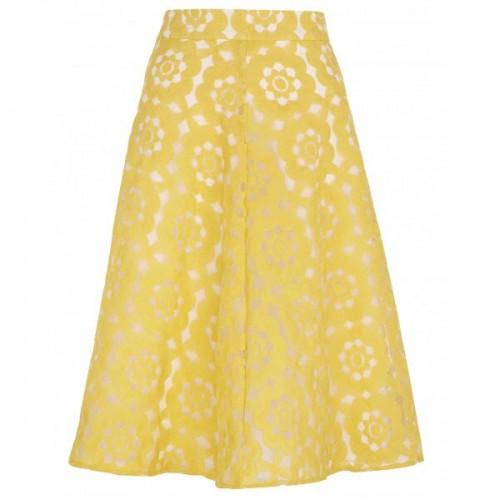 Żółta midi we wzory, River Island, cena: 179 zł