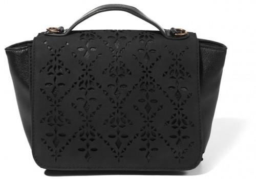 Czarna ażurowa torebka średniej wielkości, Reserved, cena: 89,99 zł