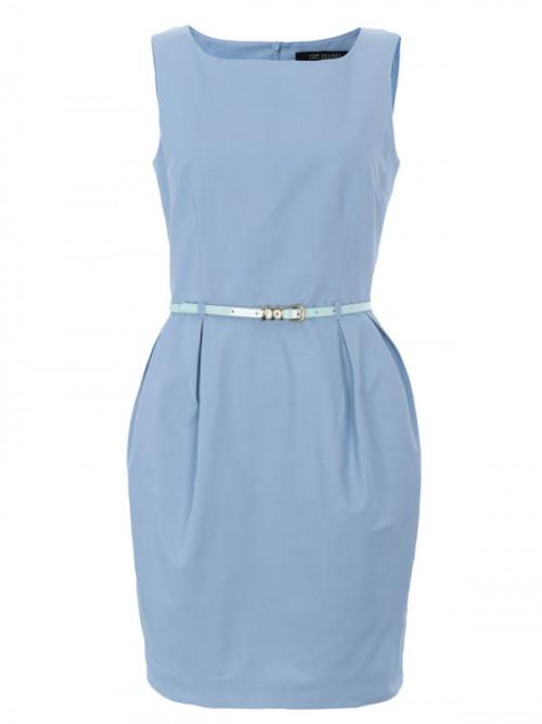 pastelowa, grzeczna sukienka, Top Secret, cena: 129,99 zł