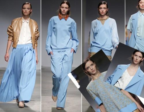 moda, błękitne ubrania