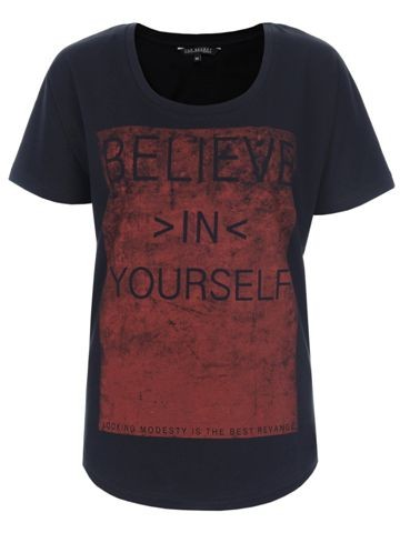 T-shirt z bordowym nadrukiem, Top Secret