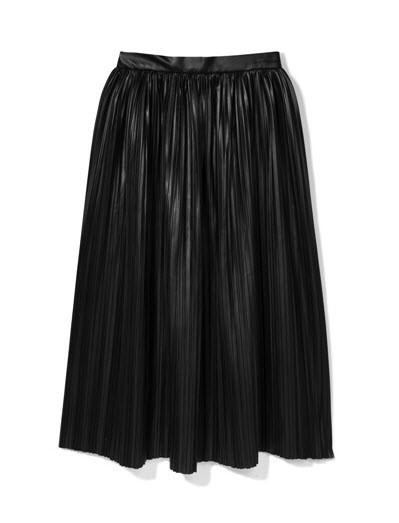 czarna, skórzana spódnica Reserved