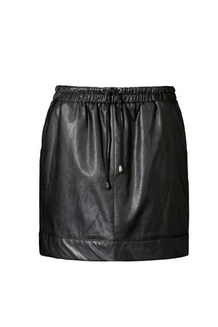czarna, skórzana spódnica