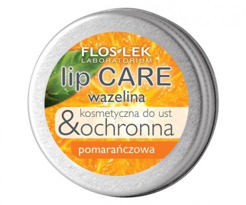 Wazelina kosmetyczna do ust o zapachu pomarańczy, Flos-Lek, cena: 6,70 zł
