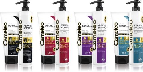 Nowa linia keratynowych szamponów Cameleo od Delia Cosmetics, cena: 15 zł/250 ml