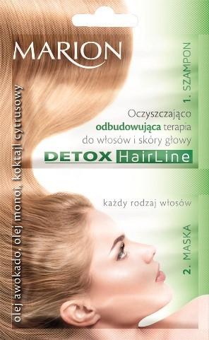 Oczyszczająco-odbudowująca terapia do włosów i skóry głowy, Marion, cena: 2,10 zł/13 ml + 10 ml