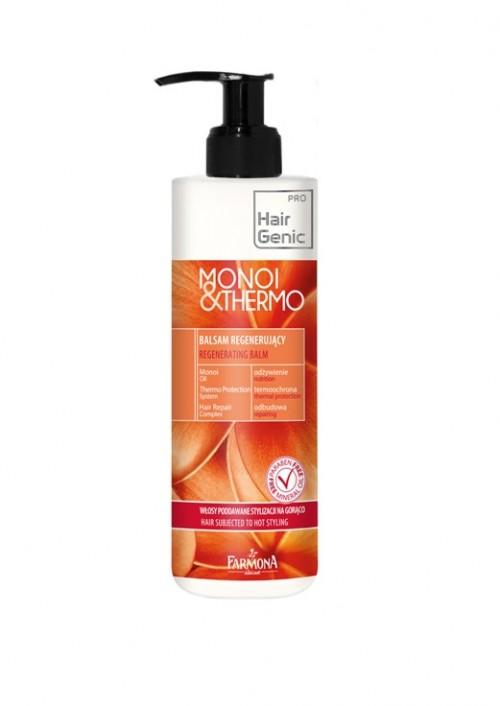 Balsam regenerujący przeznaczony do pielęgnacji każdego rodzaju włosów narażonych na działanie wysokiej temperatury podczas suszenia i stylizacji na gorąco, Farmona, cena: 14 zł/250 ml