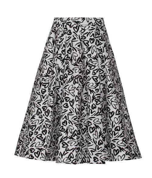 Spódnica midi w czarne printy, Mohito, cena: 219, 99 zł