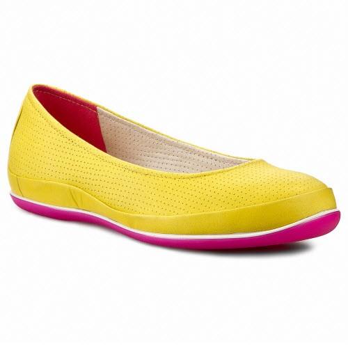 Żółte baleriny Ecco, cena: 449,90 zł
