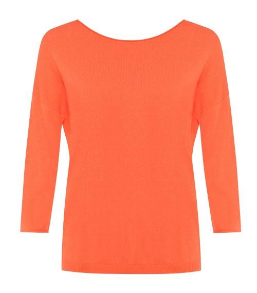 Pomarańczowa, prosta bluzka, Solar, cena: 189 zł