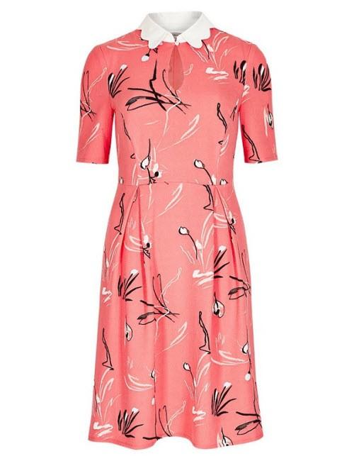 Pastelowa sukienka z kołnierzykiem, Marks&Spencer