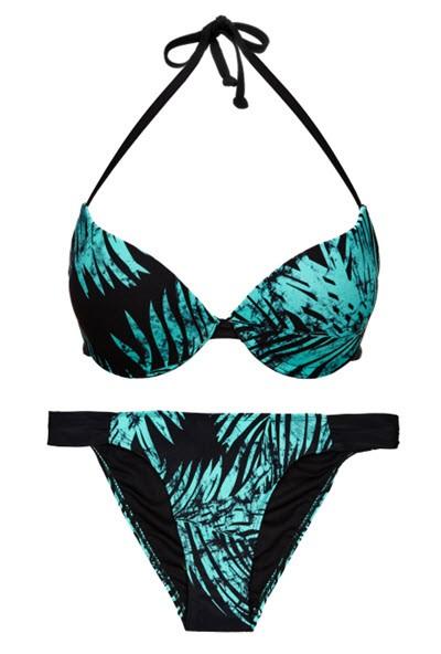 Kostiumy kąpielowe w egzotyczne wzory, Reserved, cena: góra - 59,99 zł, dół - 39,99 zł