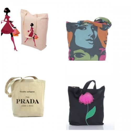 torby materiałowe, handmade