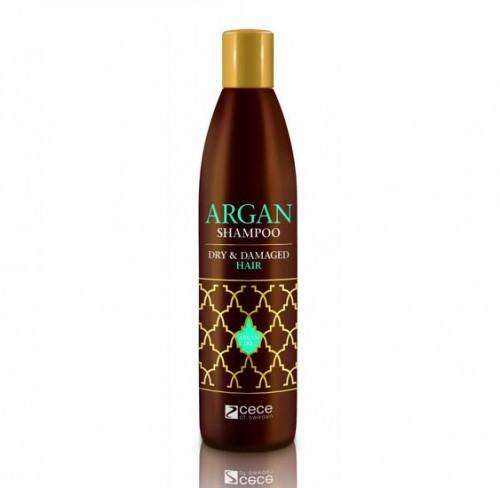 ARGAN SHAMPOO - szampon z olejkiem arganowym, który jest nazywany płynnym złotem. Szampon jest bogaty w kwasy omega 3, 6 i 9, antyoksydanty oraz witaminę A sprawia, że włosy stają się lśniące i pachną mieszanką przypraw korzennych oraz wanilii.