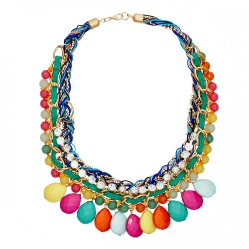 Kolorowy naszyjnik w stylu etnicznym, Sinsay, cena: 24,99 zł.