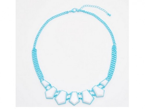 Błękitny naszyjnik z kamieniami, Cropp, cena: 15,99 zł.