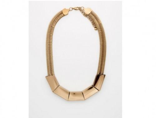 Naszyjnik w kolorze złota, Mohito, cena: 19,99 zł.