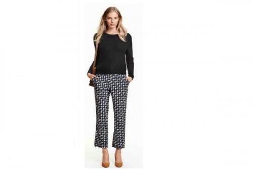 Spodnie z rozszerzanymi nogawkami, H&M, cena: 129,90 zł.