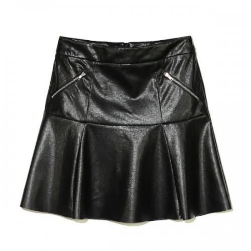Czarna spódnica ze sztucznej skóry, House, cena: 89,99 zł.