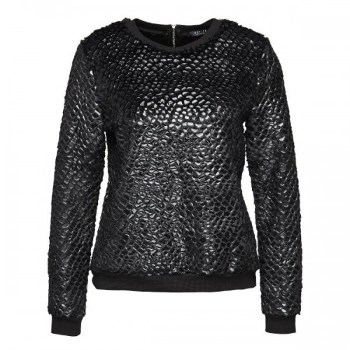 Czarny, błyszczący sweter, Mohito, cena: 159,99 zł.