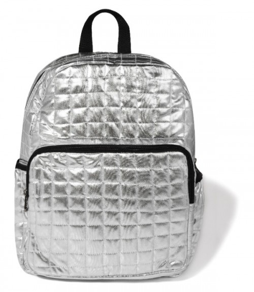 Srebrny, pikowany plecak, Sinsay, cena: 99,99 zł.