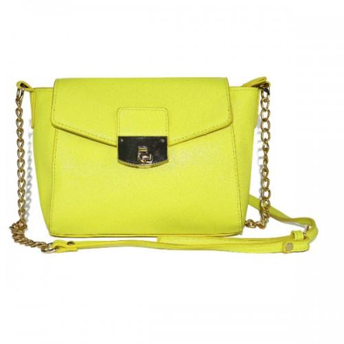 Mała torebka w cytrynowym kolorze, House, cena: 59,99 zł.