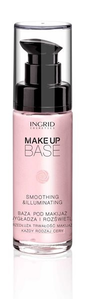 Wygładzająco-rozświetlająca baza pod makijaż Ingrid, cena: 19,00 zł, pojemność: 30 ml