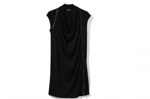 Czarna sukienka z zamkami, Reserved, cena: 149,99 zł.