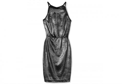 Srebrna, metaliczna sukienka, Reserved, cena: 79,99 zł.