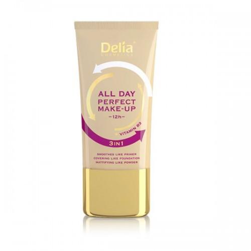 Podkładzie wygładzająco-kryjąco-matującym All Day Perfect Make Up Delia Cosmetics, cena 18 zł