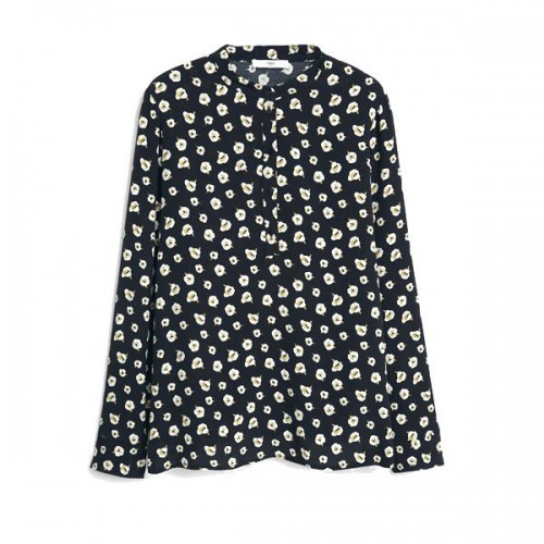 Czarna koszula w kwiaty Mango, cena